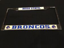Boise State Broncos Chrome Metal License Plate Frame