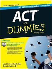 ACT FOR DUMMIES WITH ONLINE PRACTICE TESTS 6th Edition ~PAPERBACK ~ NEW