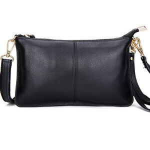100% Genuine Leather Women Messenger Bag Female Clutch Crossbody Shoulder Bags