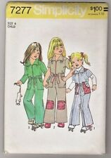 Child's Jumpsuit Simplicity Sewing Pattern 7277 Size 6