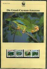 Kaimaninseln 1993 WWF komplettes Kapitel postfrisch MK FDC Papageien (WW197