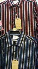 Camicie casual da uomo a righe con colletto