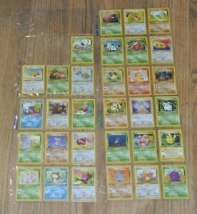 1st edition COMPLETE Pokemon JUNGLE Set 32 Cards Total Uncommon/Common