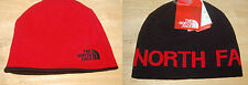 the north face mens reversible banner beanie cold weather hat black red
