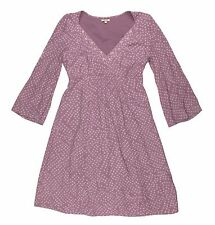 NOA NOA Womens Purple Long Sleeve Dotted Polka Dress Tea Knee Length A Line XS