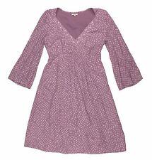 NOA NOA Women's Purple Lined Geometric  Dress V Neck A Line Long Sleeve XS