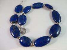 AWESOME LAPIS LAZULI STERLING SILVER FLOWER CUP HANDCRAFTED NECKLACE BY ASINGH
