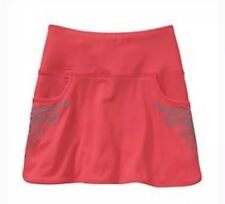 Athleta Printed Chase Womens Tennis Running Skort Skirt Red Reflective Size XS