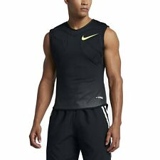 Nwt Nike Vapor Speed Max Knit Football Padded Tank Black/Volt 852316-010 Size Xl