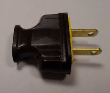 New Brown Heavy Bakelite Plug, Early Electric Style, Lamp Part,U.L.Listed #BP516