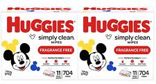 22 Flip-Top Packs (1408 Wipes Total) - Huggies Simply Clean Unscented Baby Wipes