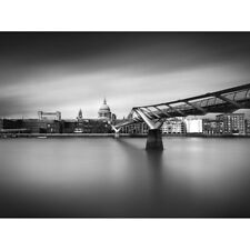 Warby Millenium Bridge London Cityscape Photo Canvas Wall Art Print Poster