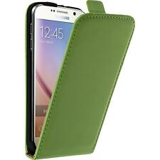 Artificial Leather Case for Samsung Galaxy S6 Flip-Case green