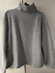 ZARA Silver Grey Sweatshirt Top  Size S