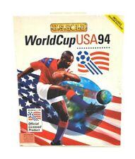 World Cup USA 94 PC Game Big Box (RARE)