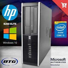 HP Desktop Computer Quad Core i5 8GB 500GB PC Windows 10 Pro Keyboard Mouse DVD