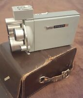 Vintage Movie Camera Argus M3 Match-Matic 8mm Works Great Tested w/o film Turret