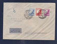 Germany 1938 Leipzig Messe air mail cover to Netherlands Indies