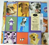 """Vintage Wrapping Paper Dogs Gift Wrap 2 Sheets 20"""" by 30"""" NOS Sealed Hallmark"""