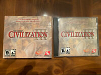 Video Game PC Sid Meiers Civilization III + Cardboard Cover.
