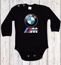 BABY BODY BMW M POWER LOGO  CAR LANGARM/KURZARM BLACK