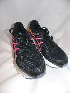 Asics Gel Exalt 3 Running Shoes Sneakers Womens Sz 7.5 T666N Black/Pink/Purple
