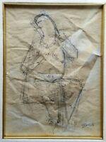 Franco Gentili - Disegno originale anni '80, opera unica firmata