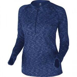 Demarini Women's 1/4 Zip Fleece Pullover Royal Lg