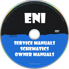 ENI Repair Service Ownes Manuals Schematics- PDFs on DVD- Huge Collection