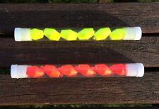 2 Tubes of Pimp Strike/Bite Indicator 12mm (1 Orange & 1 Yellow) 6 per tube.