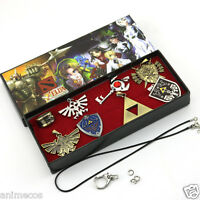 The Legend of Zelda Necklace keychain Ring Pendant 8pcs Set Cosplay New in Box