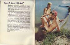 DER SONNENMENSCH - HELIOS Nr. 99, FKK, Nudist, Nude, 1961 Heft 8