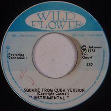 DEAN FRASER: Square from Cuba WILD FLOWER Rare Reggae Horns '75 JA VG++ 45
