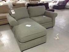 Pottery Barn Pearce Couch Sofa Sectional Sage Canvas Left Chaise Right Chair