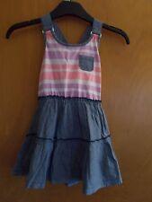 Shrinking Violet 100%Cotton Sleeveless Dress 3yr 98cm Blue Mix BNWT