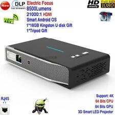 2020 New DLP 4K WiFi High Brightness 8500Lumens 3D Smart LED Projector HDMI