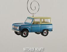 Blue 1967 Ford Bronco 4x4 Truck Christmas Ornament Emblem SUV Adorno Blazer