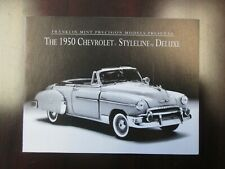 Franklin Mint Paperwork 1950 Chevy Styleline Deluxe