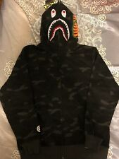 Bape A bathing ape camo shark hoodie Black Medium