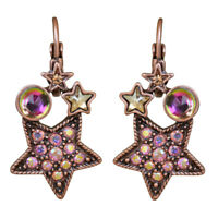 Kirks Folly Moon Magic Leverback Earrings (Coppertone) with Kirks Folly Gift Box