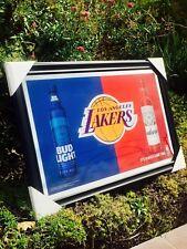 Bud Light Budweiser Los Angeles Lakers NBA Basketball Beer Bar Man Cave  Mirror
