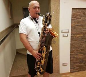 Professional Satin Black nickel Eb Baritone saxophone Eb Sax Gold Bell W/ Case