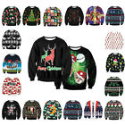 Red UGLY XMAS CHRISTMAS SWEATER Vacation Santa Elf Novelly Women Men Sweatshirt
