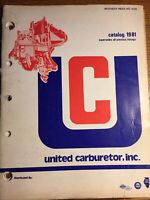 Vintage 1981 United Carburetor Parts Catalog Manual
