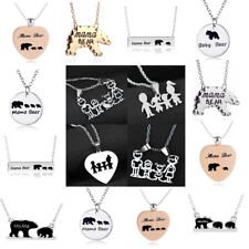 Mama Bear Necklace Charm Cubs Pendant Jewelry Baby Kids Birthday Gift Mother
