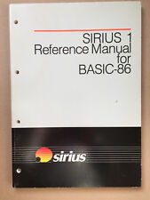 SIRIUS 1 Reference Manual for BASIC-86, new, unused