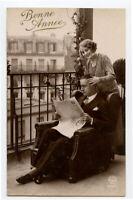 c 1930 Glamour FLAPPER ROMANCE French Pretty Lady photo postcard