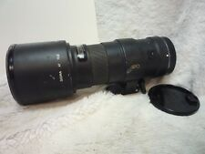 Sigma AF 400mm f/5.6 APO Autofocus Telephoto Lens for Canon EOS working well