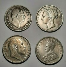 More details for four (4) british india 1 rupee coins, from 1835 - 1917