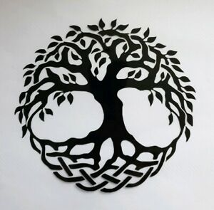 1x Tree of Life Car Van Vinyl Sticker Decal Window Om Meditate 5.5x5inch Black